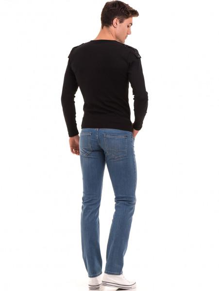 Мъжка спортна блуза с щампа VIGOSS 683 - черна E