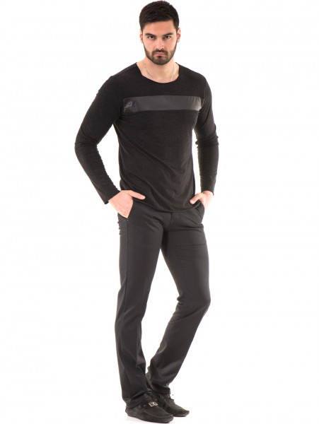 Мъжка спортна блуза XNT 641 - черна C