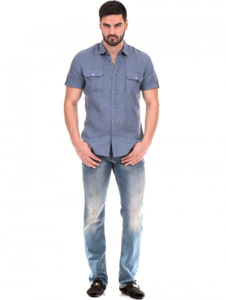 Мъжка риза XINT 375 - синя C