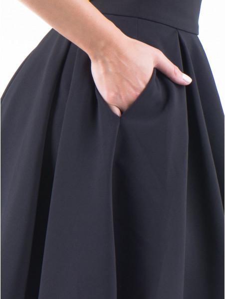 Пола с висока талия F&K 1139 - черна D