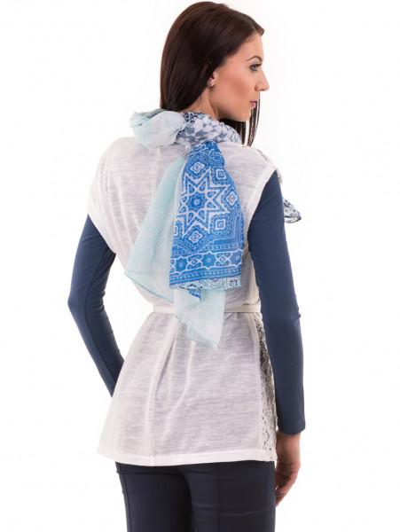 Елегантна дамска жилетка с дантела  BUTELLA 103 - цвят екрю B