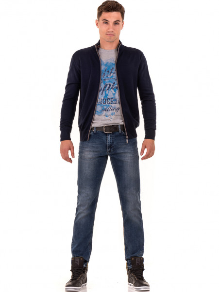 Мъжка спортна блуза с щампа MCL 29161 - сива C2