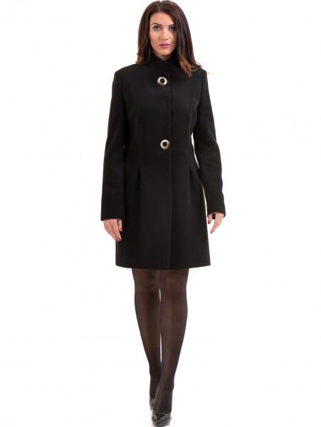 Класическо елегантно дамско палто MODE CLASS 4089 - черно C