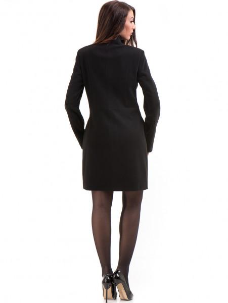 Класическо елегантно дамско палто MODE CLASS 4089 - черно E