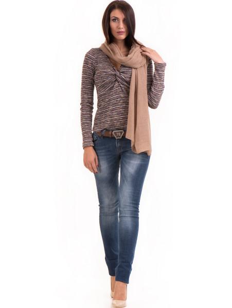 Дамска блуза MISS POEM втален модел 15478 - цвят бордо C1