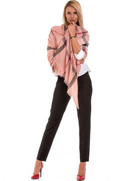 Дамски елегантен панталон F.L.M с колан  777- черен C3