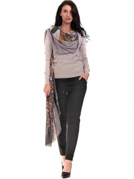 Дамски шал с абстрактна шарка INDIGO 9350 - сив C