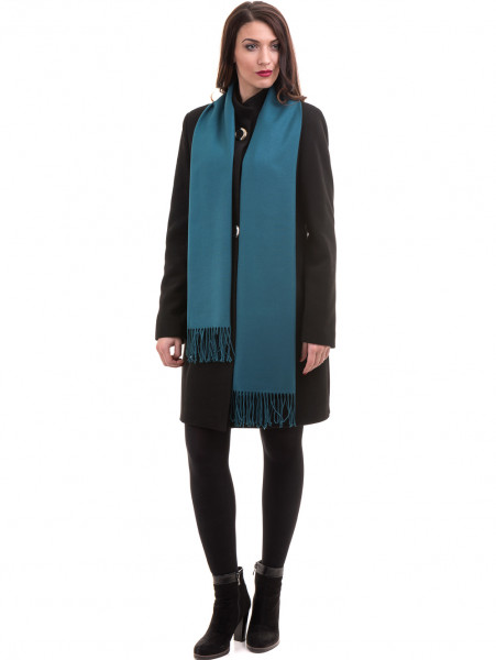 Класическо елегантно дамско палто MODE CLASS 4089 - черно C2