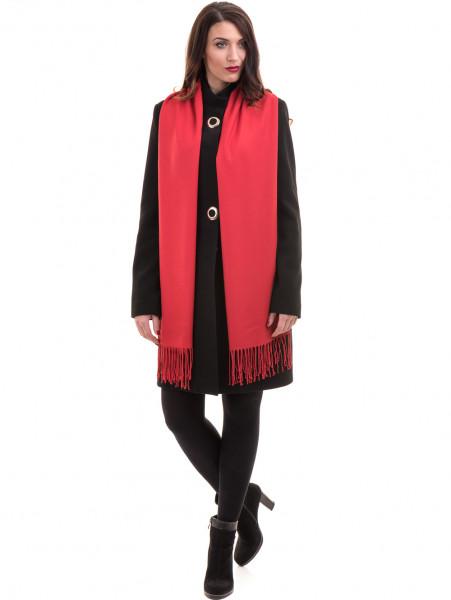 Класическо елегантно дамско палто MODE CLASS 4089 - черно C4