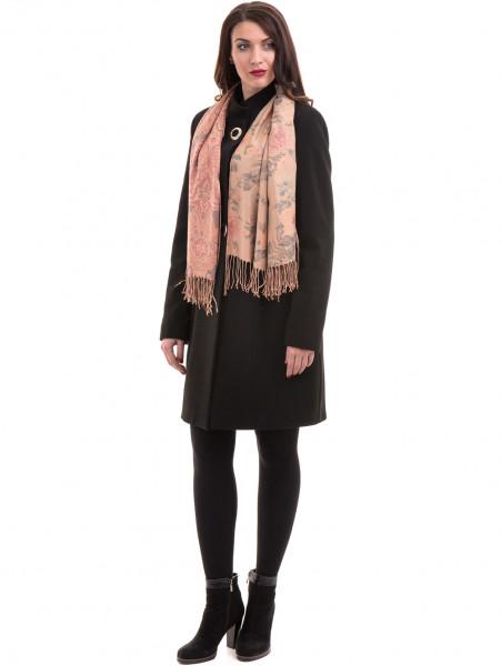 Класическо елегантно дамско палто MODE CLASS 4089 - черно C5