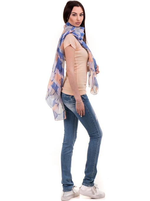 Дамска едноцветна блуза MISS POEM 13942 - цвят праскова C1