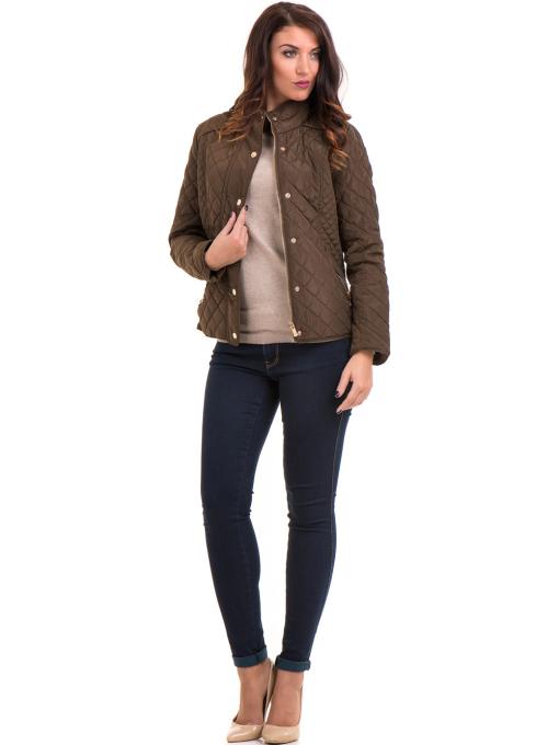 Дамска блуза с обло деколте XINT 148 - бежова C1