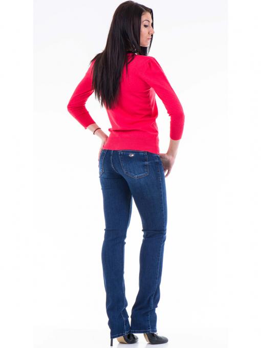 Класически модел дамски дънки LACARINO 3542 - тъмен деним E