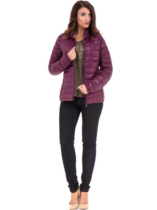 Дамска блуза с V-образно деколте XINT 116 - цвят каки C1