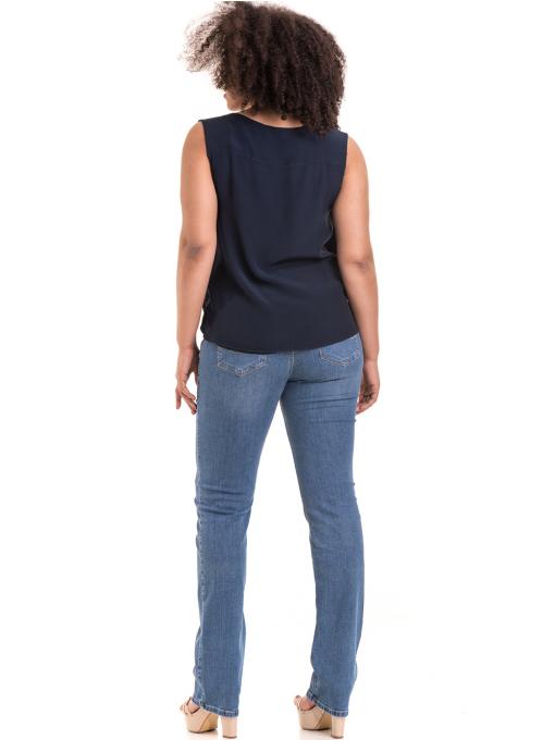 Класически дамски дънки LACARINO B3856 - деним E