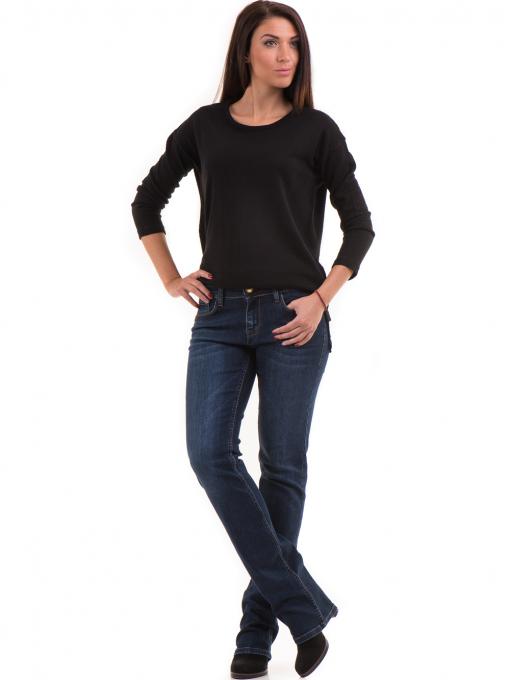 Класически дамски дънки LACARINO 4047 - тъмен деним 1 C