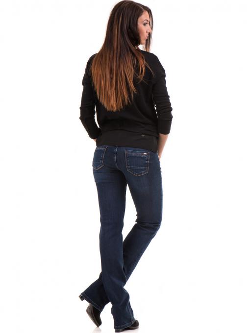 Класически дамски дънки LACARINO 4047 - тъмен деним 1 E