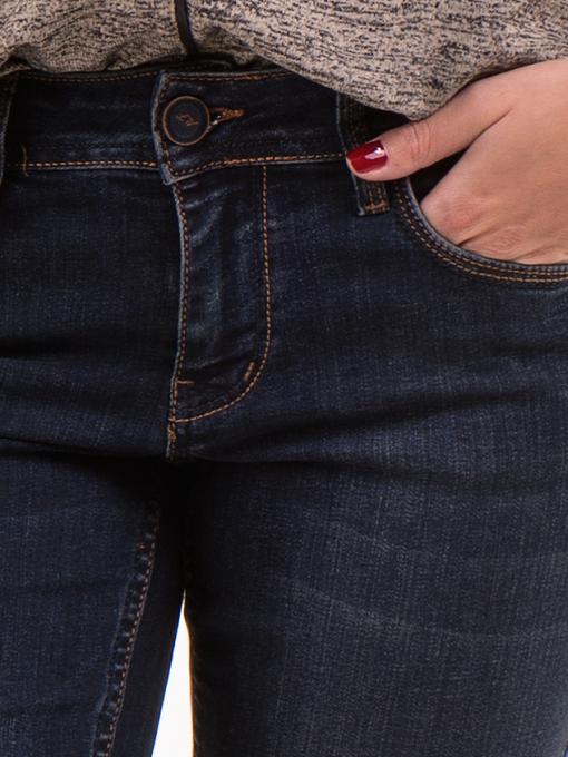 Класически дамски дънки LACARINO 4047 - тъмен деним 2 D