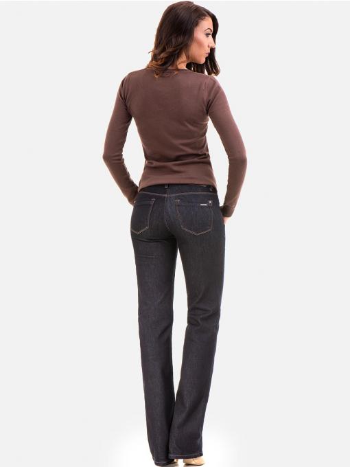 Класически дамски дънки LACARINO 4196 - тъмен деним