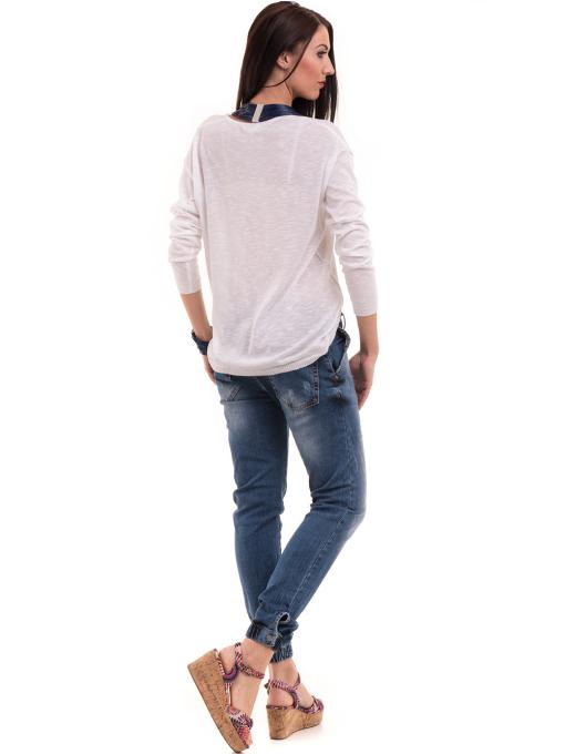 Дамски дънки бойфренд модел SHE BERRY 9015 - деним 2 E