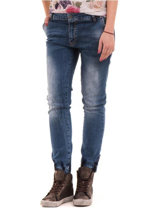 Дамски дънки бойфренд модел SHE BERRY 9015 - деним 2