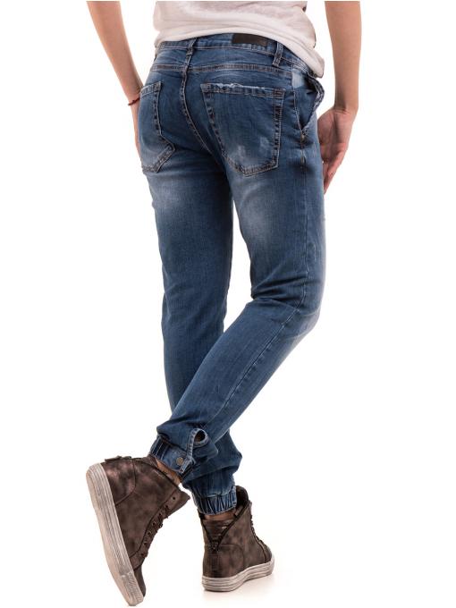 Дамски дънки бойфренд модел SHE BERRY 9015 - деним 2 B