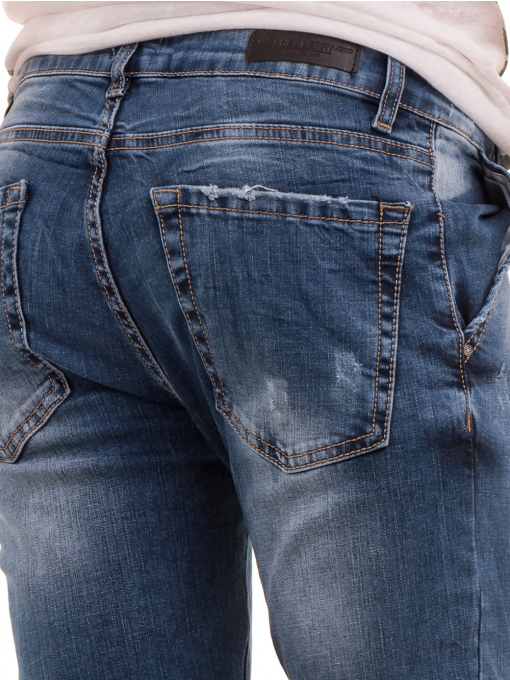 Дамски дънки бойфренд модел SHE BERRY 9015 - деним 2 D