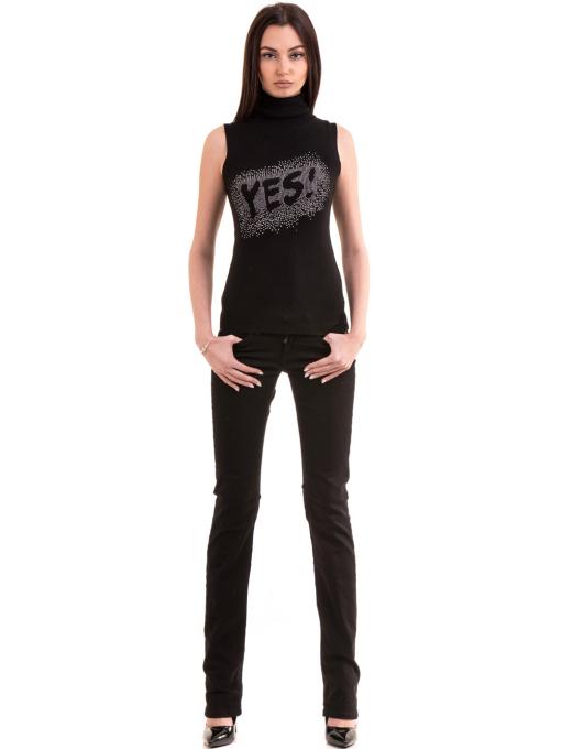 Класически дамски панталон CONS 234 - черен C