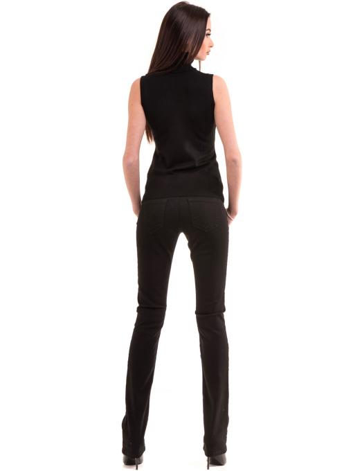 Класически дамски панталон CONS 234 - черен E