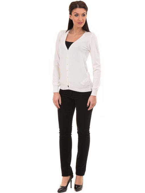 Дамски панталон джинсов CONS 6379 - черен C1