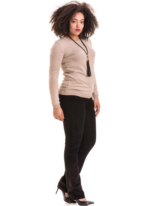Дамски панталон джинсов CONS 6379 - черен C