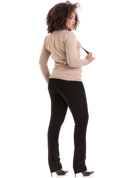 Дамски панталон джинсов CONS 6379 - черен E