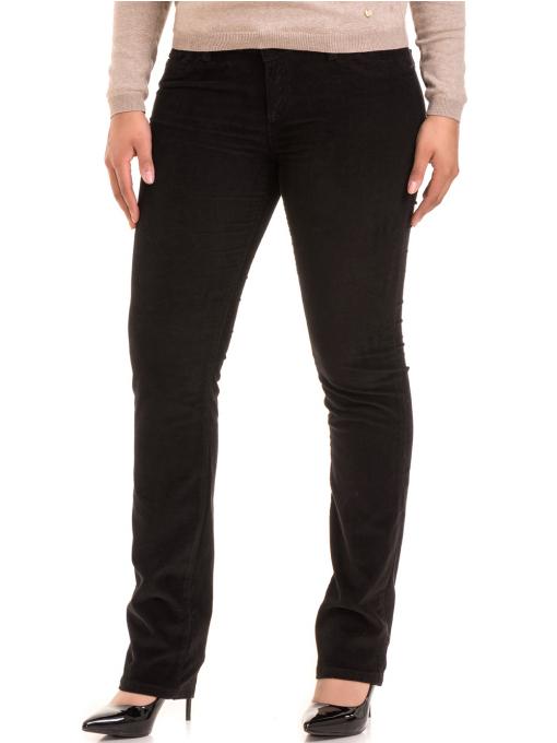 Дамски панталон джинсов CONS 6379 - черен