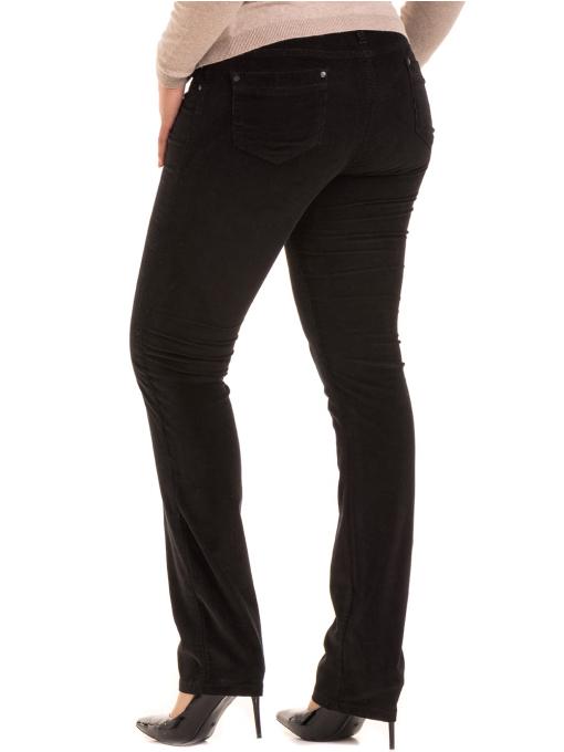 Дамски панталон джинсов CONS 6379 - черен B