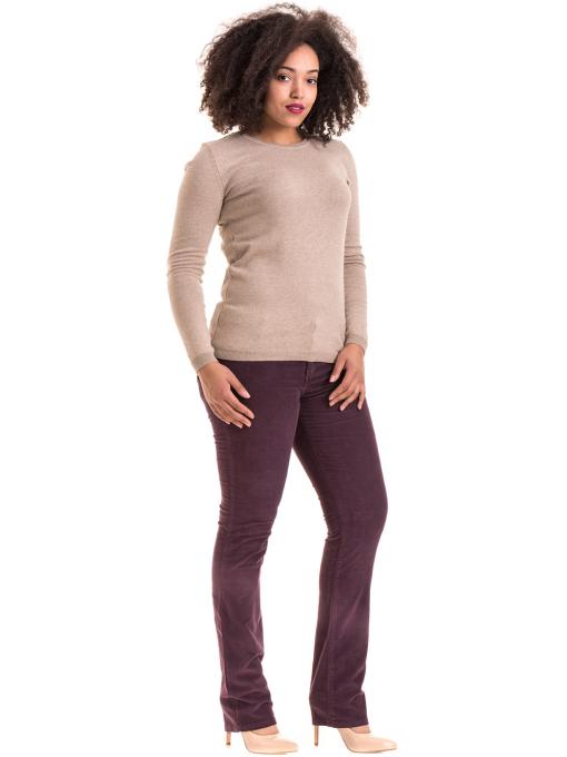 Дамски  джинсов панталон CONS 6379 - тъмно лилав C
