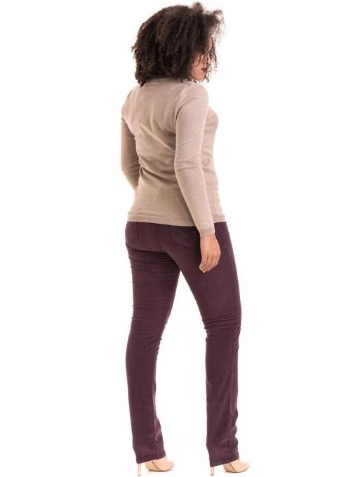 Дамски  джинсов панталон CONS 6379 - тъмно лилав E