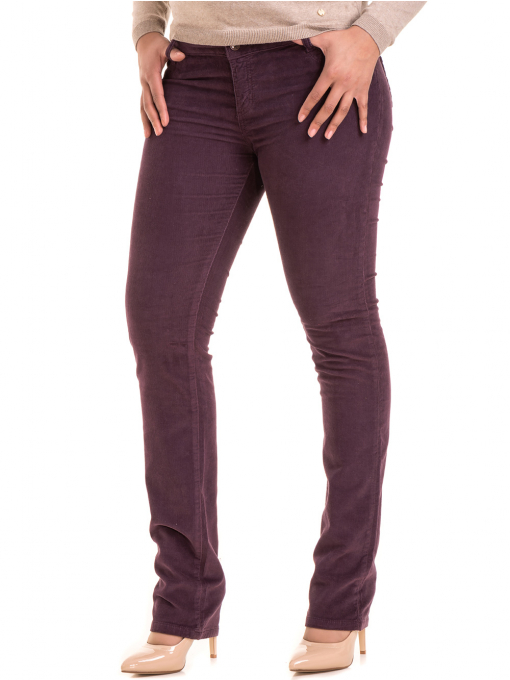 Дамски  джинсов панталон CONS 6379 - тъмно лилав