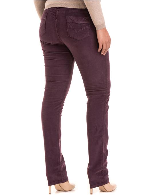 Дамски  джинсов панталон CONS 6379 - тъмно лилав B