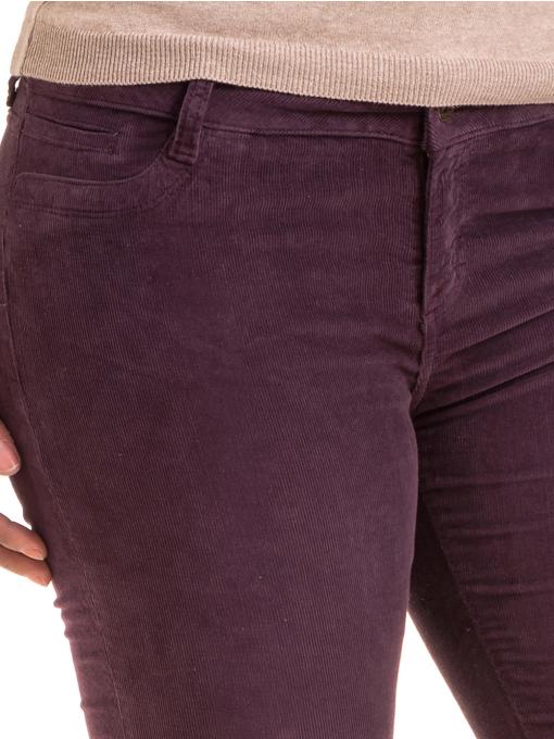 Дамски  джинсов панталон CONS 6379 - тъмно лилав D
