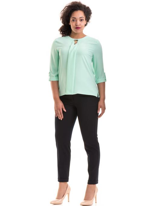 Дамски панталон F.L.M с колан 520 - тъмно син C