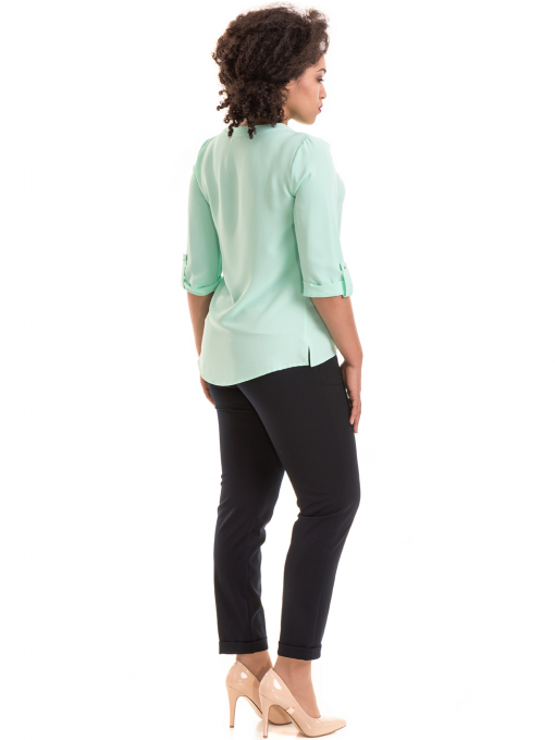 Дамски панталон F.L.M с колан 520 - тъмно син E