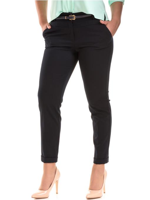 Дамски панталон F.L.M с колан 520 - тъмно син