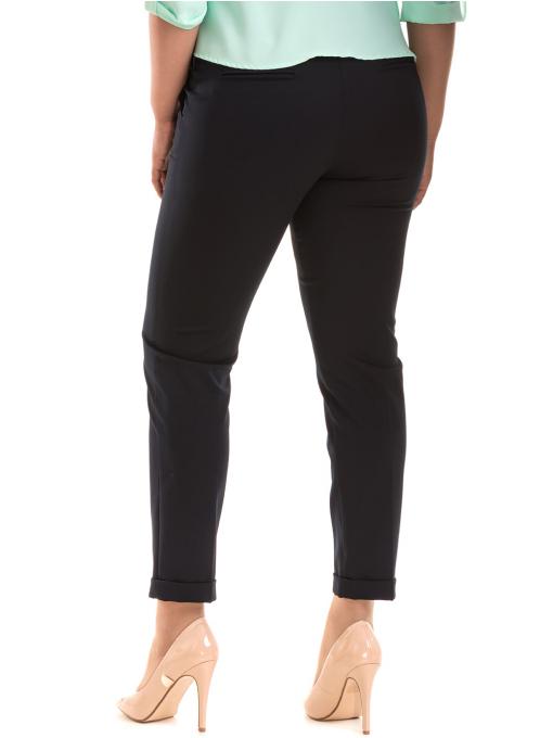 Дамски панталон F.L.M с колан 520 - тъмно син B