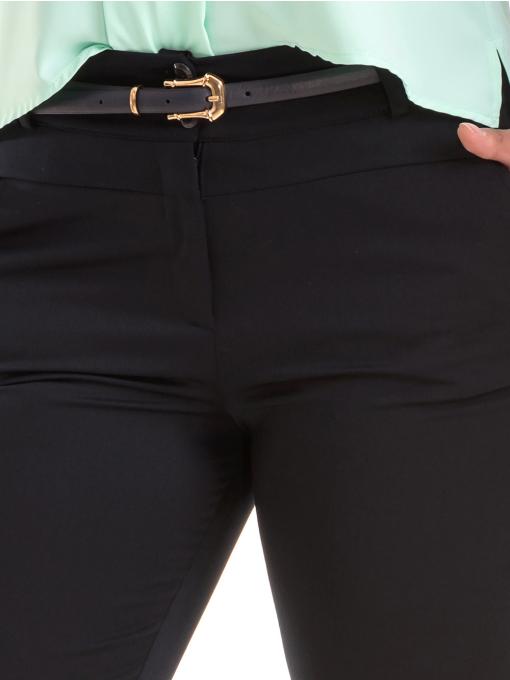 Дамски панталон F.L.M с колан 520 - тъмно син D
