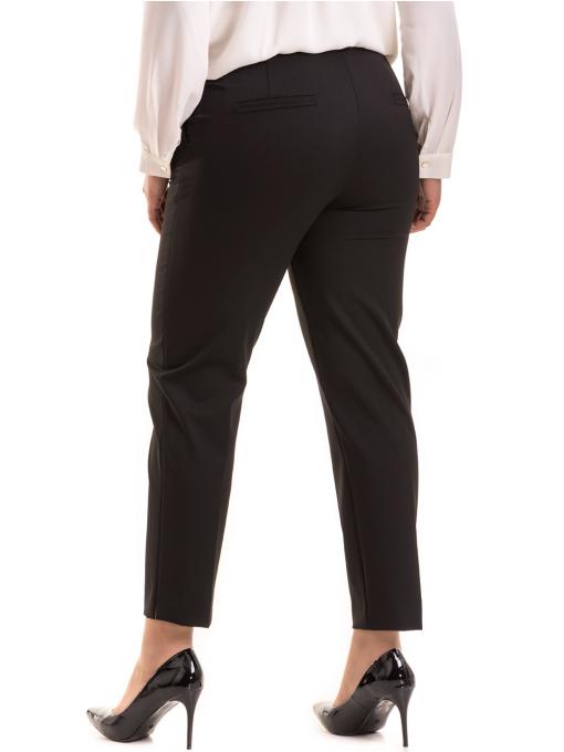 Елегантен дамски панталон F.L.M с колан 524 - черен B