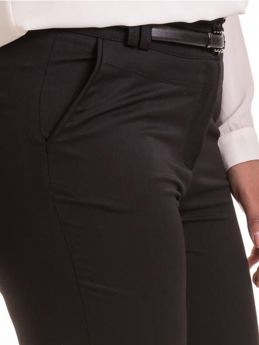 Елегантен дамски панталон F.L.M с колан 524 - черен D