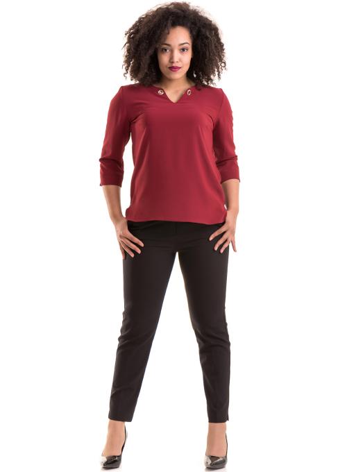 Дамски елегантен панталон F.L.M с колан 527- черен C