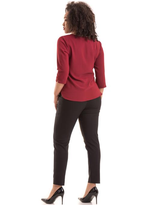 Дамски елегантен панталон F.L.M с колан 527- черен E