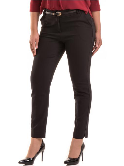 Дамски елегантен панталон F.L.M с колан 527- черен
