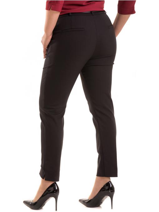 Дамски елегантен панталон F.L.M с колан 527- черен B